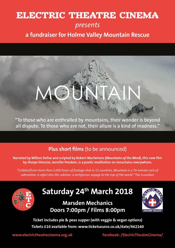 Mountain film A3 poster