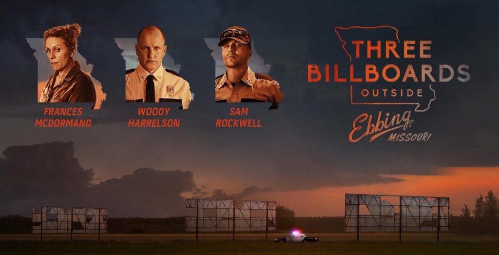 Three Billboards outside Ebbing Missouri Film poster for Electric Theatre Cinema Marsden